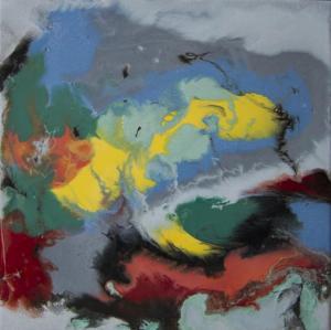DeseoResina epoxi y pigmentos / Tabla50 x 50 cm.